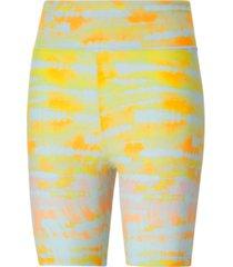 puma women's tie-dyed bike shorts