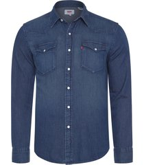 camisa masculina classic western - azul