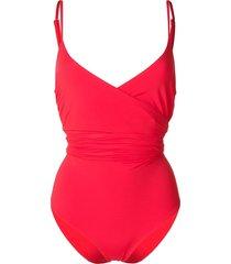 mara hoffman tie waist swimsuit - red