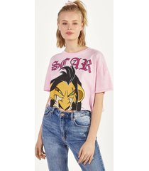 cropped t-shirt met lion king