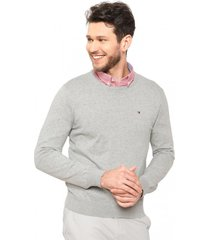 sweater atlantic cuello redondo gris tommy hilfiger