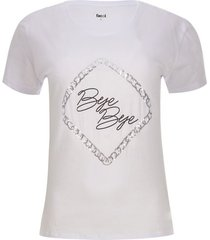 camiseta bye color blanco, talla 6