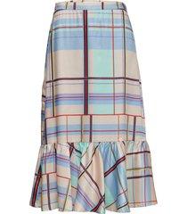 ambina skirt ms19 knälång kjol multi/mönstrad gestuz