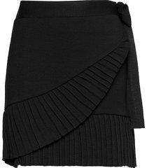 lucy merino skirt skirts wrap skirts svart ella&il