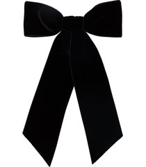 jennifer behr wide bow hair clip - black