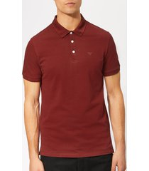 emporio armani men's basic regular fit polo shirt - burgundy - xl - burgundy
