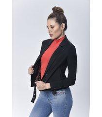 chaqueta blazer dama negro di bello jeans  classic jacket ref c057