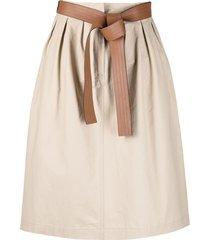 loewe belted waist a-line skirt - neutrals
