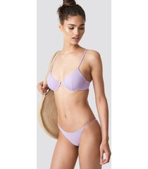 na-kd swimwear bikinitrosor med tunna band - purple