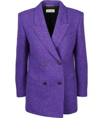 square tweed blazer