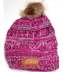 gorro de lana ruiles rosado niba
