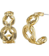 2028 gold-tone hoop earrings
