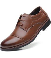 tallas grandes zapatos oxford hombres formales planos de cuero clásicos