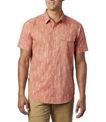 camisa hombre summer chill coral columbia