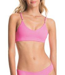 women's maaji aurora pink costa 4-way bralette bikini top, size medium - pink
