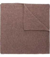 dell'oglio fine knit scarf - brown