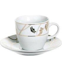 filiżanka porcelanowa 6 szt. komplet flora