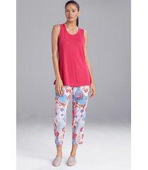 congo tank pajamas, women's, pink, size xl, n natori