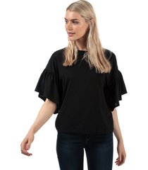 vero moda womens rebecca jersey top size 12 in black