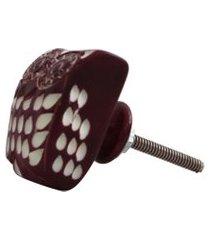 puxador porta  coruja lilas  cd5015 3x3x4cm - besha