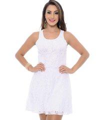 vestido b'bonnie curto em renda karina branco