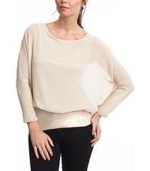 joseph a dolman long sleeve chiffon blouse