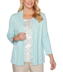 alfred dunner cottage charm layered-look shawl top