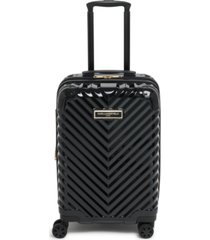 "karl lagerfeld chevron 21"" hardside carry-on spinner"
