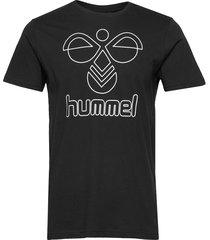 hmlpeter t-shirt s/s t-shirts short-sleeved svart hummel