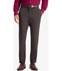 kenneth cole reaction men's slim-fit stretch premium textured weave dress pants