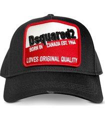 dsquared2 cotton gabardine cotton baseball cap
