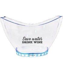 champanheira com led personalizada dink wine - incolor - dafiti