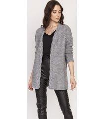 ciepły sweter - kardigan, swe127 szary