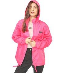jaqueta corta vento colcci neon rosa