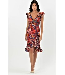 pansy sukienka z warstwowymi falbanami
