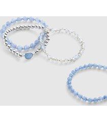 lane bryant women's 4-row beaded stretch bracelet onesz dazzling blue