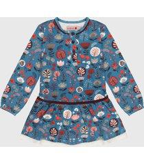 vestido azul aguamarina-multicolor boboli
