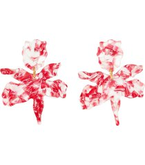 small acetate lily earrings