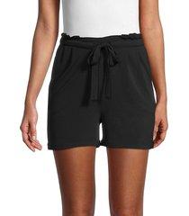 cocobleu women's paperbag shorts - black - size xs