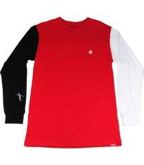 camiseta outlawz longsleeve block of colors