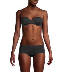 dkny women's litewear strapless push-up bra - black - size 36 c
