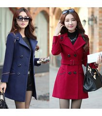 women's fashion coat jackets trenchcoat double breasted peacoat korea style oute