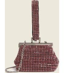 motivi borsa clutch con strass donna rosa