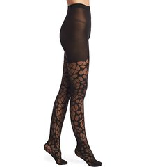 lunar faux net tights
