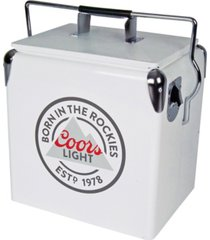 coors light retro ice chest cooler with bottle opener 13l