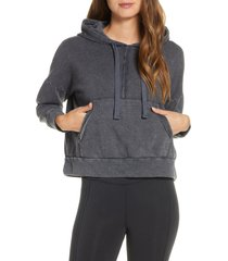 women's free people fp movement work it out hoodie, size large