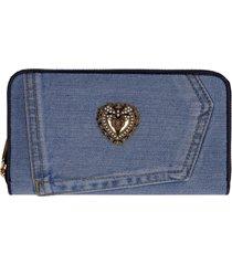 dolce & gabbana devotion zip-around wallet