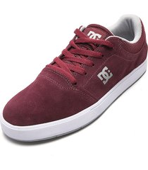 tenis skateboarding vinotinto-blanco dc shoes crisis