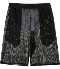 amir slama mesh swim shorts - black