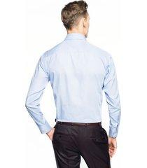 koszula bexley 2649 długi rękaw custom fit niebieski
